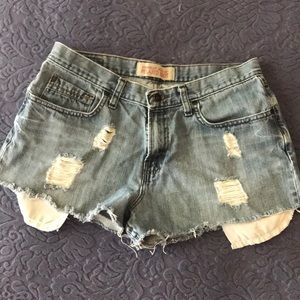 Wrangler Distressed Jean Shorts